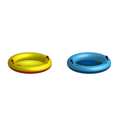 Rubber circle for riding on water behind vector