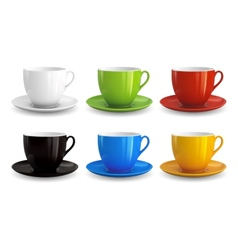 Set of cups vector image