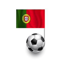 Soccer Balls or Footballs with flag of Portugal vector image