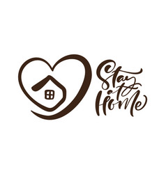 stay home logo to reduce risk infection vector image