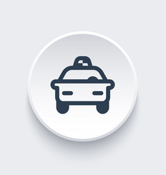 taxi car line icon vector image