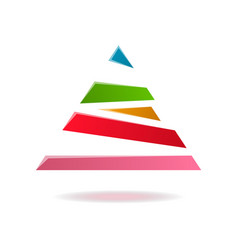 triangle abstract isolated element for logo vector image