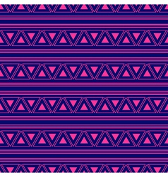 Triangle Aztec Blue Pink Neon Background vector