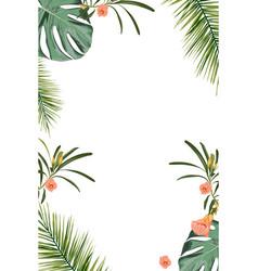 tropical design border frame template vector image
