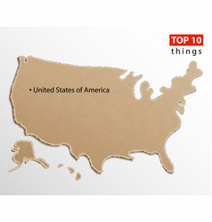 united states america map usa maps craft vector image