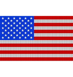 USA flag embroidery design pattern vector