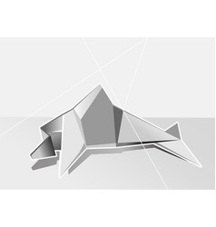 White geometrical dolphin vector