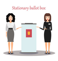 Work of the election commission stationary box vector