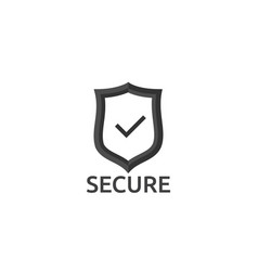 check shield icon symbol secure protection concept vector image