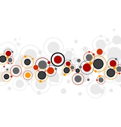 Colored Circles Pattern vector image vector image