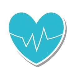 Heart with cardio pulse vector