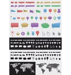 infographic pointer set vector image vector image