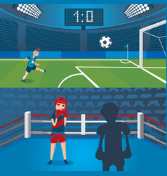 Professional sport horizontal banners vector