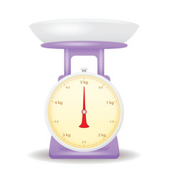purple color weight scale market isolate on white vector image vector image
