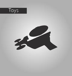 Black and white style icon toy gun vector