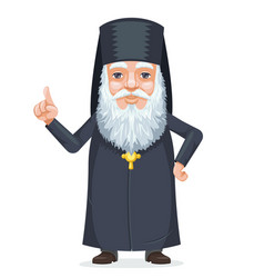 christian orthodoxy priest beard old mystery wise vector image