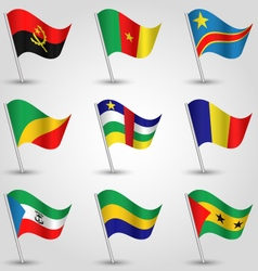 set of flags central africa vector image
