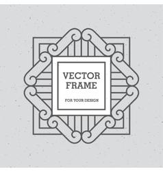 Single Mono Line Frame vector image vector image