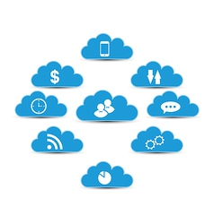 Cloud computing and technology infographic design vector