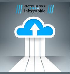 dowvnload cloud arrows icon business vector image