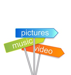 media signs indicator vector image vector image