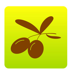 olives sign brown icon at vector image