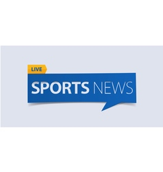 Sport News banner template isolated vector image vector image