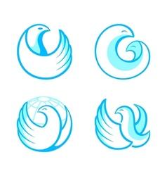 Bird symbols vector image vector image