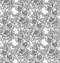 Seamless pattern of decorative black and white pop vector image vector image