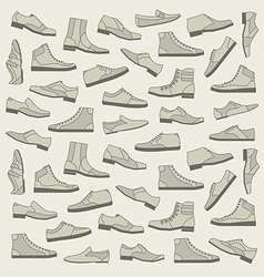 Shoes seamless pattern vector image vector image
