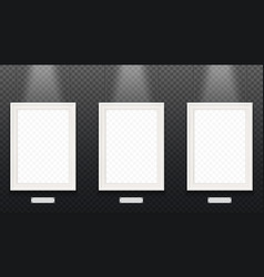 the same gray colored hanging frames with empty vector image