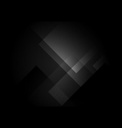 Abstract black and gray square shape layered vector