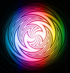 Abstract swirl on a black background vector