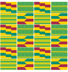 african tribal kente cloth style seamless vector image