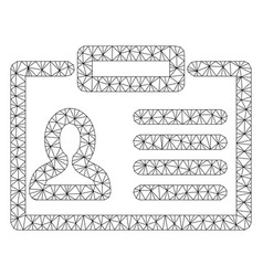 Badge mesh network model vector
