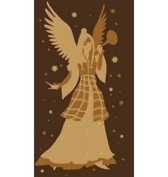 Beautiful angel silhouette vector image