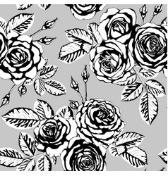 beautiful vintage seamless pattern with black and vector image