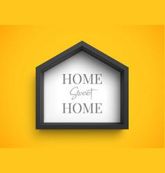 black stylish frame in shape house vector image