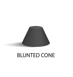 blunted cone isolated geometric figure in black vector image