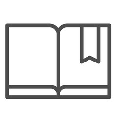 Bookmark with book line icon read vector
