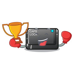 Boxing winner capslock button isolated with the vector