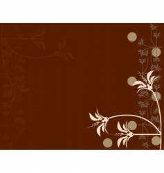 brown floral vector image