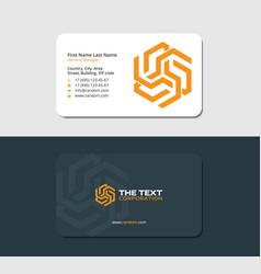 Business card solar energy yellow color vector