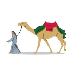 Cameleer sign Bedouin and camel vector