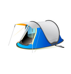 Camp or camping tend isolated on white background vector