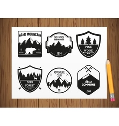 Camping and outdoors adventure vintage logos vector image
