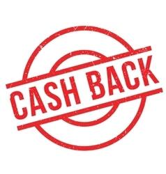 Cash Back rubber stamp vector image