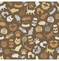 cat seamless pattern vector image