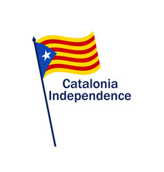 catalonia independence flag on white background vector image