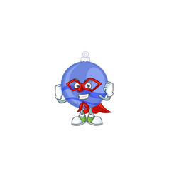 character a super hero in blue christmas ball vector image
